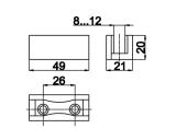 Направляющая двери - схема