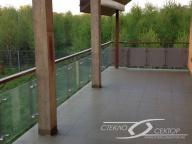 Балконное ограждение - стекло