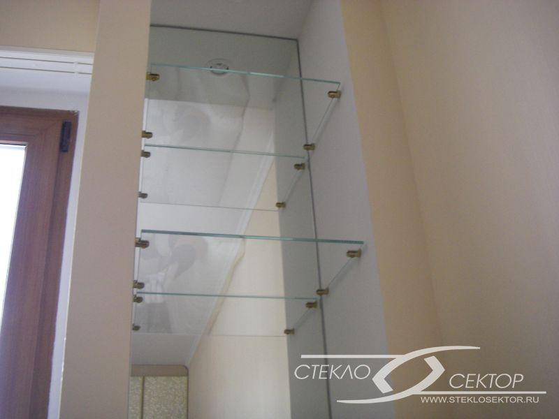 Фотографии стеклянных полок, дизайн полок из стекла.