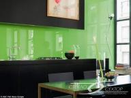 Стеклянный фартук на кухне с фотопечатью