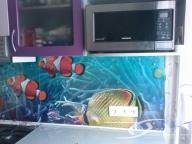 Фартук для кухни, скинали - Рыбы